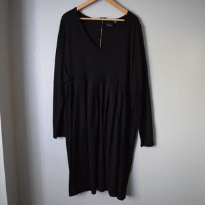Asos Curve Long Sleeve Dress Size 20 Black